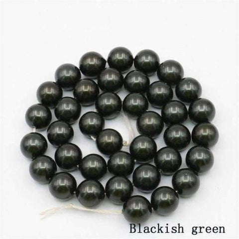 Planet Gates Blackish green Charming 10mm Natural Mixed Color Black Shell Pearl Beads DIY Accessories Gift Manual Make Jewelry Wholesale Price AAA+ 16inch