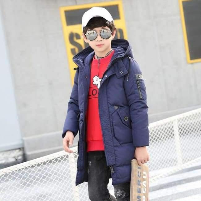 Planet Gates Blue / 10 Winter Clothes for Boys Feather Down Coats Hooded Long Parkas Teenage Boys Winter Clothes age 10 12 14 16 years Winter Kids Coat