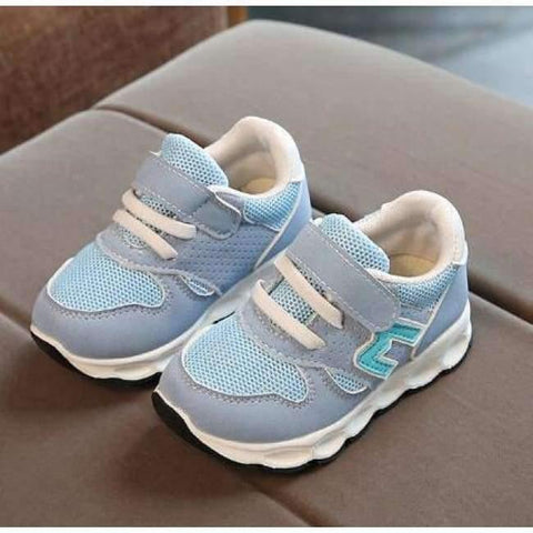 Image of Planet Gates Blue / 11 Hook^Loop fashion patch baby toddlers casual breathable light baby first walkers Cute solid light baby sneakers shoes