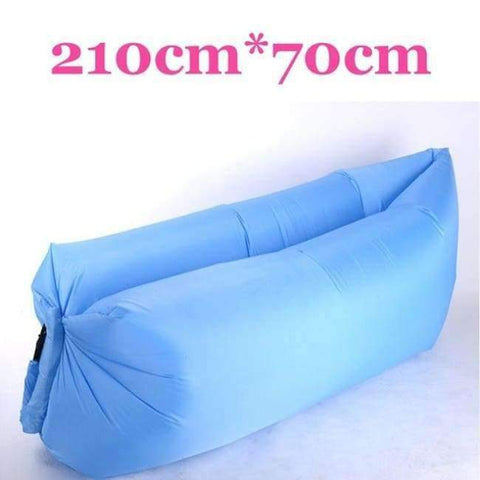 Planet Gates Blue-210cm Lazy Fast Inflatable Lounger Air Sofa Camping Outdoor Portable Sofa Beach Bed Travel Picnics Swimming Inflatable Sleeping Couch