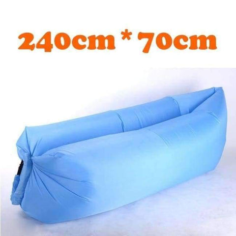 Planet Gates Blue-240cm Lazy Fast Inflatable Lounger Air Sofa Camping Outdoor Portable Sofa Beach Bed Travel Picnics Swimming Inflatable Sleeping Couch