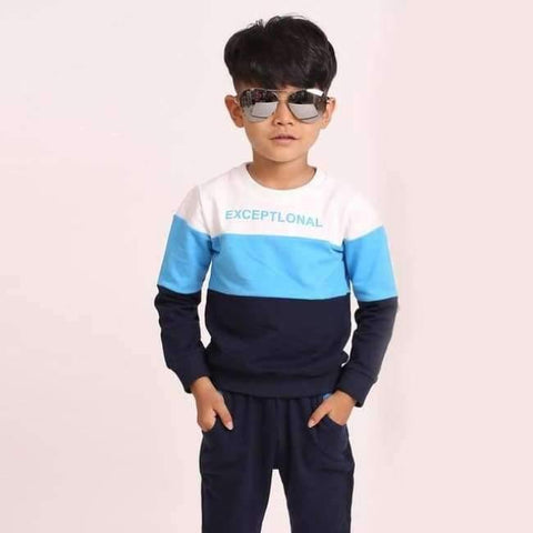 Planet Gates Blue / 3T Fashion autumn teenage boys clothing sets stripe casual boys sport suit children kids tracksuit 3-12 years teenage clothes