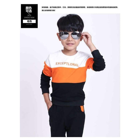 Image of Planet Gates Blue / 3T Fashion autumn teenage boys clothing sets stripe casual boys sport suit children kids tracksuit 3-12 years teenage clothes