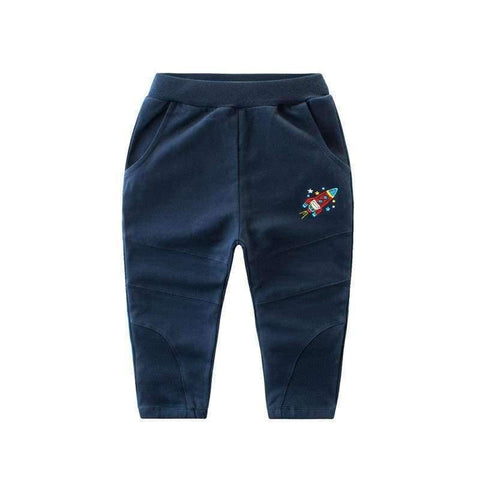Image of Planet Gates Blue / 3T School Boys Girls Spring Autumn Sports Pants Toddler Baby Kids Trousers Teenage Children Cotton Clothes Sweatpants 2-10Y T27