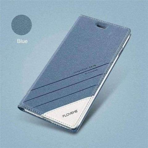 Planet Gates blue / 5 5s SE Kaso Para sa iPhone 5 5S SE iPhone 8 Kaso Luxury Brand Flip Card Slot Katad Coque Cover ng Telepono Para sa iPhone X 7 6 6S Kaso