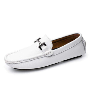 AGSan italian stitching design driving shoes men white leather moccasins handmade leather shoes men loafers mocasines homme blue
