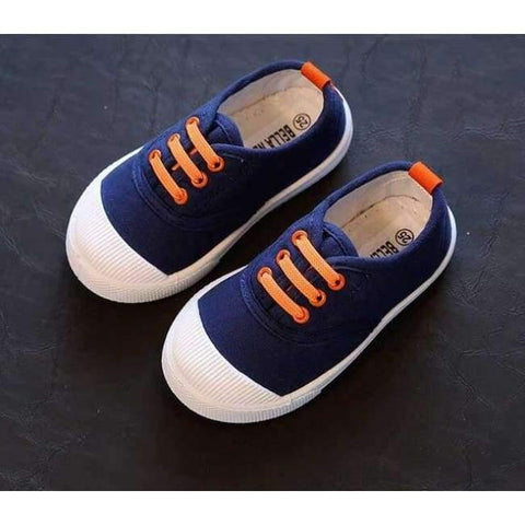 Planet Gates Blue / 6 Kids Girls Boy's Fashion Canvas Shoes Breathable Sneakers Shoe For Children Size 21-30 Flats Heels Casual Shoes