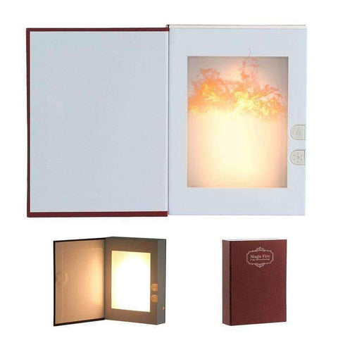 Image of Planet Gates Blue HMDVIDA LED flame table Lamp magic fire book light gift night light