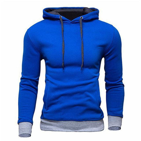 Planet Gates Blue / M Men's Sweatshirt  New design Fashion Solid Hooded Casual Autumn Hoodies 4 Colors Male High Quality Pullover