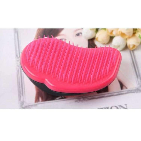 Image of Planet Gates blue Mouse Comb Tangle Hair Brush Professional Hairbrush Paddle Detangler Brushes Massage Care Styling Women Anti--Static