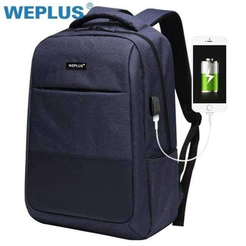 Planet Gates blue Multifunction computer USB charging 15.6 inch Laptop Backpack men School Bag Large Capacity Casual Style Water Resistant bags