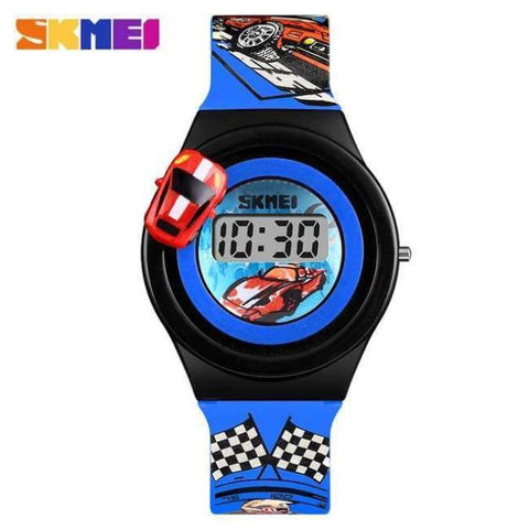 Planet Gates Blue SKMEI 1376 Children Cartoon Creative Digital Watches Kids Fashion Car Outdoor Wristwatches For Boys Girls Student Casual Watch