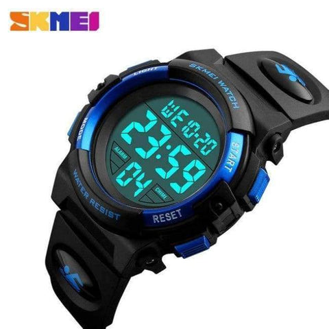 Planet Gates Blue SKMEI Brand Children Watch Kids Outdoor Sports Watches Multifunctional Waterproof LED Digital Wristwatches For Boy&Girls Relogio