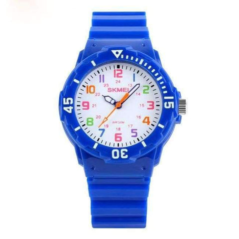 Planet Gates Blue SKMEI Fashion Children Watches 50M Waterproof Quartz Wristwatches Jelly Kids Clock Hours Boys Girls Junior Students Sport Watch