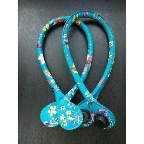 Planet Gates Blue YESIKIMI Handles For O Silicon Bag 1 Pair 65CM PU Leather Flower Handles Portable Belt Bag Parts Accessories Bag Straps