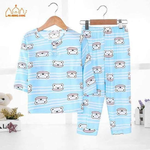 Image of Planet Gates Boys Pajamas Sets 2 / 2T Boys Pajamas Sets Summer Long Sleeve 6 8 10 12 Years Animal Cartoon Bear Teenagers Kids Pyjamas Children Sleepwear Clothes Sets