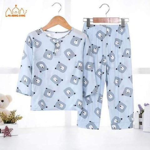 Image of Planet Gates Boys Pajamas Sets 3 / 2T Boys Pajamas Sets Summer Long Sleeve 6 8 10 12 Years Animal Cartoon Bear Teenagers Kids Pyjamas Children Sleepwear Clothes Sets