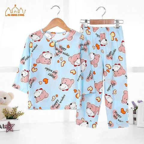 Image of Planet Gates Boys Pajamas Sets 4 / 2T Boys Pajamas Sets Summer Long Sleeve 6 8 10 12 Years Animal Cartoon Bear Teenagers Kids Pyjamas Children Sleepwear Clothes Sets