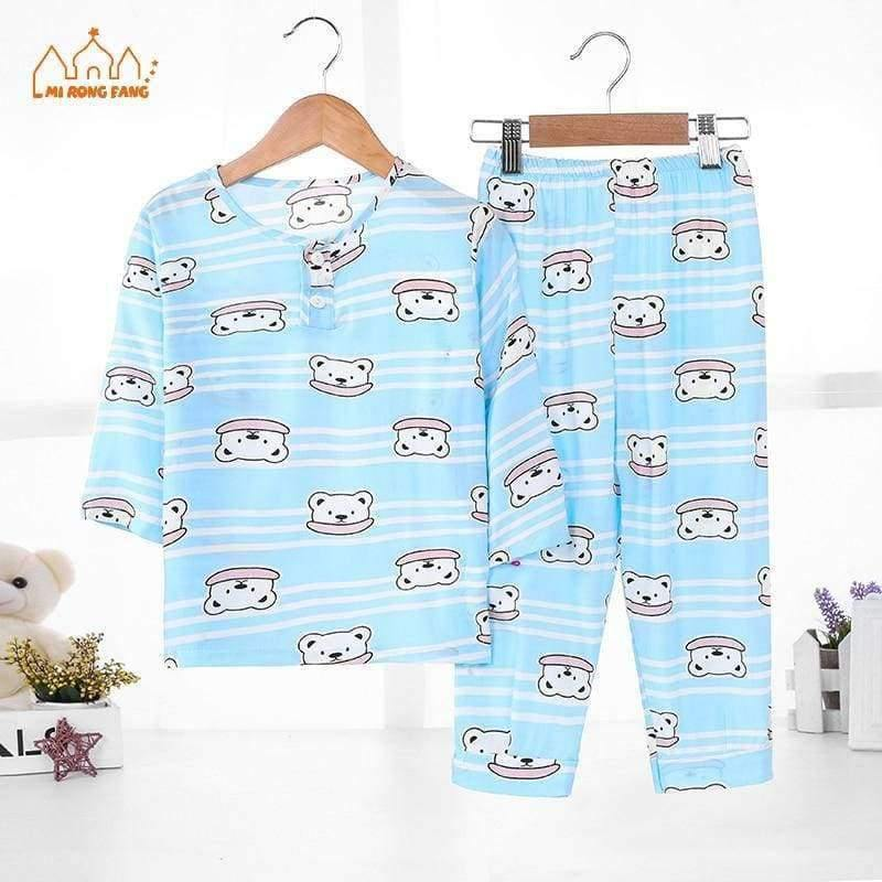 Planet Gates Boys Pajamas Sets 4 / 2T Boys Pajamas Sets Summer Long Sleeve 6 8 10 12 Years Animal Cartoon Bear Teenagers Kids Pyjamas Children Sleepwear Clothes Sets