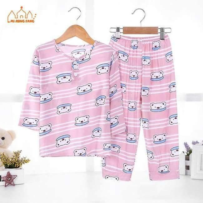Planet Gates Boys Pajamas Sets 5 / 2T Boys Pajamas Sets Summer Long Sleeve 6 8 10 12 Years Animal Cartoon Bear Teenagers Kids Pyjamas Children Sleepwear Clothes Sets