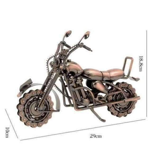 Planet Gates bronze Home Decoration Decoration Wrought Iron Large Motorcycle Model Accessories Office Table Interior Home Decor  WL5111441