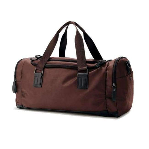 Planet Gates Brown PU Leather Men's Sports Bags Gym Bags Classic Sports HandBag Fitness Travel Bags Workout Shoulder Bag SB0029