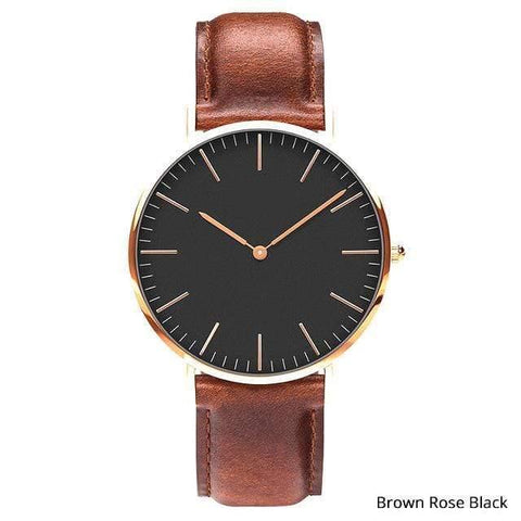 Image of Planet Gates Brown rose black Mens Stainless Steel Bracelet Quartz Watch Fashion Rose Gold Silver Man Watch Style Men Dress Watch 40mm