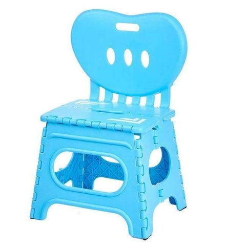 Planet Gates C Multifunctional folding stool plastic backrest portable home chair creative kindergarten small stool children's furniture