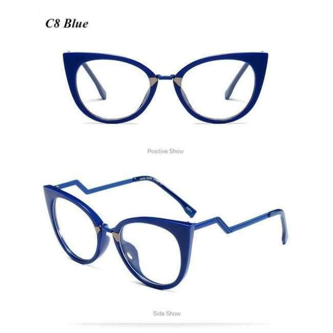 d40d6344313e ... High-Quality Cat Eye Glasses Frame Women Optical Eyewear Lady. Tap to  expand