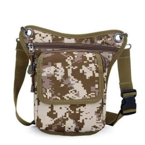 Image of Planet Gates Camouflage Coffee New Arrival Men Messenger Bags Canvas Shoulder Bag Multi Function Casual Man Nylon Waist Leg Pack Travel Designer Camouflage