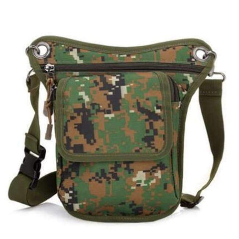 Image of Planet Gates Camouflage Green New Arrival Men Messenger Bags Canvas Shoulder Bag Multi Function Casual Man Nylon Waist Leg Pack Travel Designer Camouflage