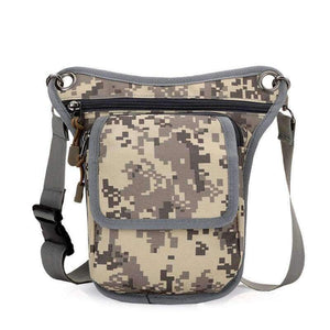 Planet Gates Camouflage Grey New Arrival Men Messenger Bags Canvas Shoulder Bag Multi Function Casual Man Nylon Waist Leg Pack Travel Designer Camouflage