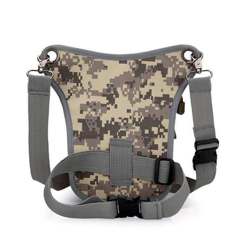 Image of Planet Gates Camouflage Grey New Arrival Men Messenger Bags Canvas Shoulder Bag Multi Function Casual Man Nylon Waist Leg Pack Travel Designer Camouflage