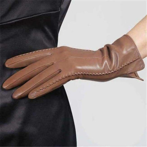 fc6ad5dac ... Image of Planet Gates champagne / S High Quality Elegant Women Genuine  Lambskin Leather Gloves Autumn ...