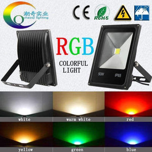 Remote Color Change Spotlight Bulb 20W 10W LED Floodlight RGB LED Flood Light