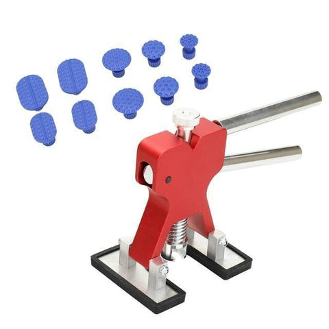 Малюнак Planet Gates Кітай / 10 PCS Red Car Body Paintless Dent Repair Tool Lifter Puller + 18 Укладкі Hail Removal Tool для Bmw e46 e90 Ford Focus 2 фольксваген MaZDa Jetta