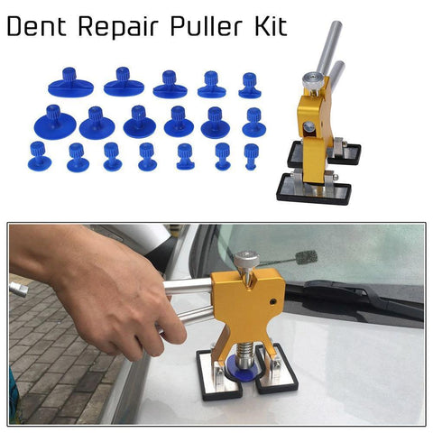 Planet Gates Кітай / 18 PCS Жоўты аўтамабіль цела Paintless Dent Repair Tool Lifter Puller + 18 Укладкі Hail Removal Tool для BMW e46 e90 Ford Focus 2 фольксваген мазда Jetta