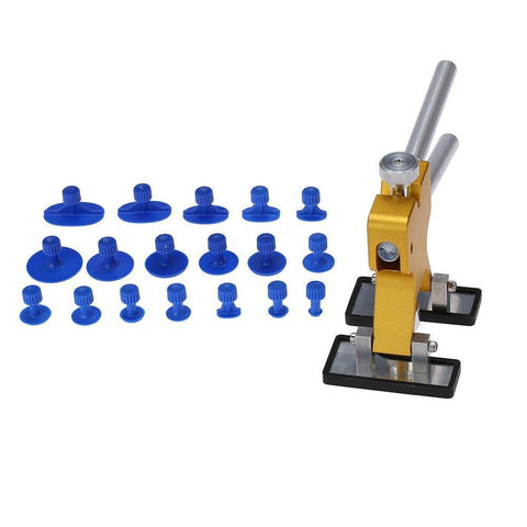 Planet Gates China / 18 PCS Yellow Karosserie Paintless Dent Lifter Repair Tool Abzieher + 18 Tabs Hagel-Entfernungs-Werkzeug für BMW e46 e90 Ford Focus 2 Volkswagen Mazda Jetta