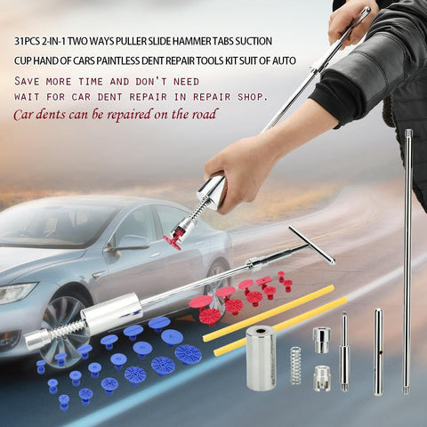 Bild von Planet Gates China / 18 PCS Yellow Karosserie Paintless Dent Lifter Repair Tool Abzieher + 18 Tabs Hagelentfernungswerkzeug für bmw e46 e90 Ford Focus 2 Volkswagen Mazda Jetta