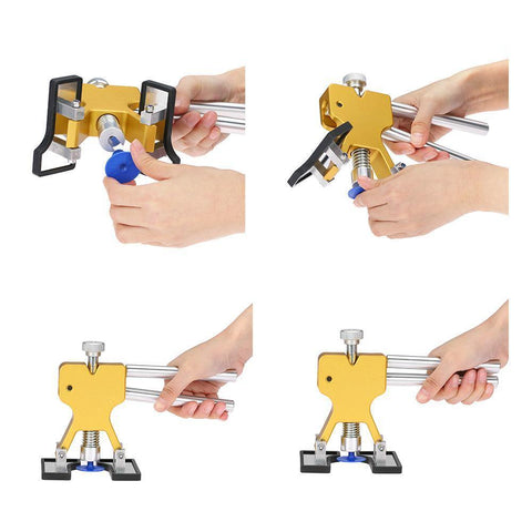 Planet Gates China / 18 PCS Yellow Car Body Paintless Dent Lifter Repair Tool Puller +18 Tabs Hail Removal Tool for bmw e46 e90 ford focus 2 volkswagen mazda jetta