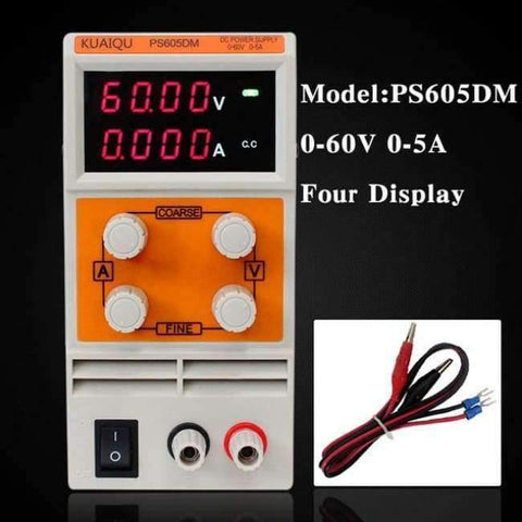 Planet Gates China / 60V 5A Four display Laboratory power supply PS605DM 60V 5A Single phase adjustable SMPS Digital voltage regulator 0.1V 0.01A DC power supply