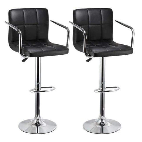 Planet Gates China / Black JEOBEST 2pcs Bar Stools Swivel Black Leather Height Adjustable Pub Bar Chair Modern Living Room Furniture FR DE Stock HWC