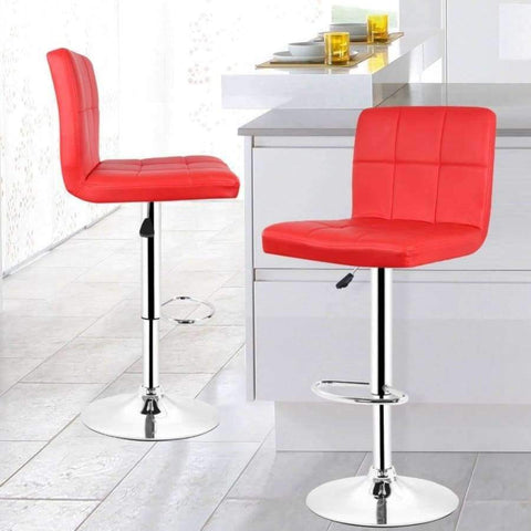 Planet Gates China / Black JEOBEST 2PCS/set Kitchen Bar Stools Chair Leather Adjustable Swivel Bar Stools Breakfast Bar Chairs Black/Red DE FR HWC