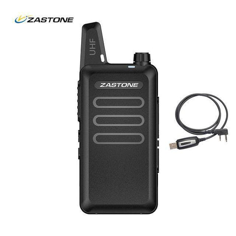 Planet Gates China / black radio cable Zastone X6 UHF 400-470MHz MINI Radio Handheld Two-Way Communication Equipment Portable Walkie Talkie With headset Cable ZT-X6