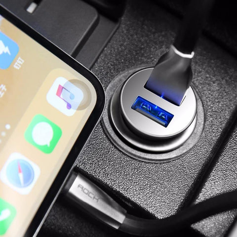 Planet Gates China / Black Rock 4.8A Dual USB Car Charger for iPhone Samsung Huawei Xiaomi Mobile Phone Fast Car Phone Charger USB Travel Car-Charger