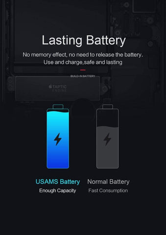 Planet Gates China For iPhone 6 Plus Battery USAMS Original For iPhone6 Plus Mobile Phone Lithium Battery Power Capacity 2915mAh Bank With Tools