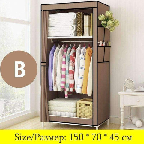 Planet Gates China / HH341000CS1 Minimalist Modern Non-woven Cloth Small Wardrobe Student Clothing Storage Cabinet Folding Steel Individual Closet Home Furniture