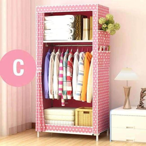 Planet Gates China / HH341000CS2 Minimalist Modern Non-woven Cloth Small Wardrobe Student Clothing Storage Cabinet Folding Steel Individual Closet Home Furniture