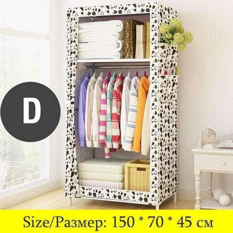 Planet Gates China / HH341000CS4 Minimalist Modern Non-woven Cloth Small Wardrobe Student Clothing Storage Cabinet Folding Steel Individual Closet Home Furniture