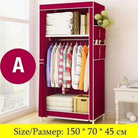 Planet Gates China / HH341000CS5 Minimalist Modern Non-woven Cloth Small Wardrobe Student Clothing Storage Cabinet Folding Steel Individual Closet Home Furniture